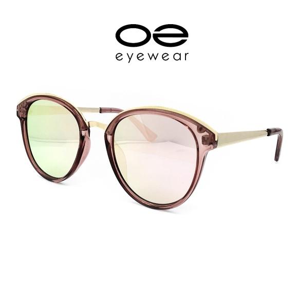 6e5d14149e2 O2 Eyewear 652 Round Oval Style Aviator Sunglasses
